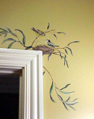 Wall Painting Designs Birds : Kitchen wall tile mural covers